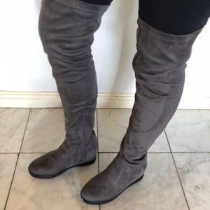 🔥 Stretchy Snug Fit Platform Wedge Knee High